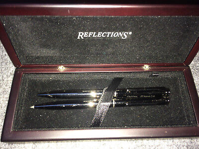 PEN SET, BRANDED REFLECTIONS, BALL PEN and PENCIL BOXED, BUT ENGRAVED.
