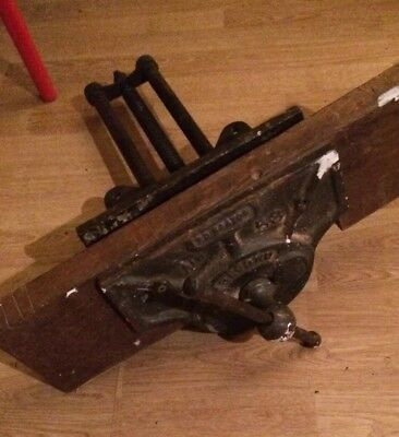 Record 53 Vintage Woodworking Vice