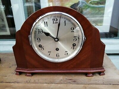 Very Stylish Old Westminster Chime Mantle Clock in excellent condition Working