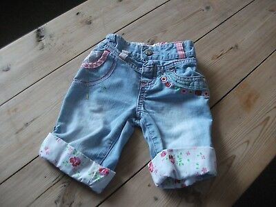 Mothercare Ditsy Print & Embroidered Baby Girls Jeans Age 6-9 Months