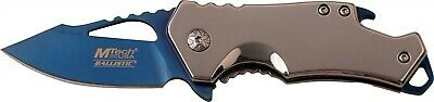 Mtech MTA882SBL Stainless Steel Assisted Straight Blue Folding Pocket Knife