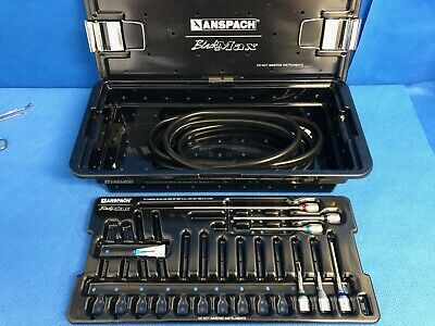 Anspach Black Max Drill Set w/ Adapters Spine/Neuro