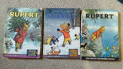 3 Rupert Annuals 1965 1867 and 1969