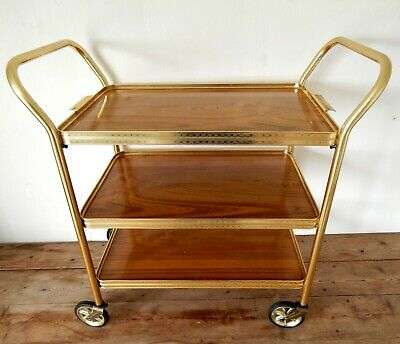 Vintage Retro 50s 60s Hostess Serving Tea Trolley Three Tier Mid Century