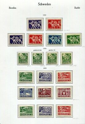 Sweden 1932-1979 Complete Mnh Collection With Almost All 3+4 Pairs See Scans