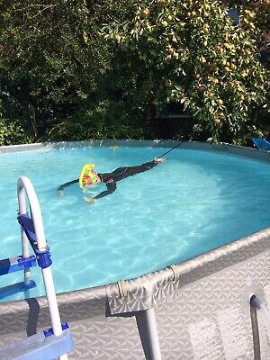 """Bestway Steel Pro Frame Above Ground Swimming Pool With Pump And Ladder. 12'x30"""""""