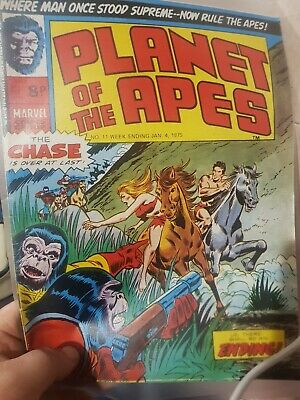 PLANET OF THE APES Comic - No 11 - Date 04/01/1975 - Marvel Comic mint condition
