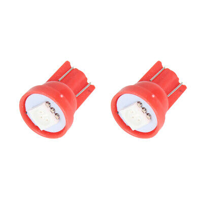 2x T10 5050 1LED W5W Car Side Red License Plate Lights Lamp Bright Wedge Bulbs
