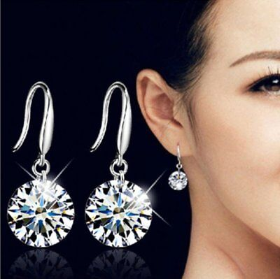 Fashion Women Crystal Zircon Hook Earrings Wedding Bridal Party Gift Jewelry Hot