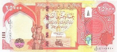 HALF MILLION (20 x 25000) NEW IRAQI DINARS 2013 WITH EXTRA SECURITY FEATURES.