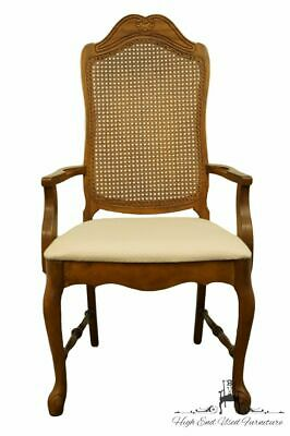 BERNHARDT FURNITURE French Provincial Cane Back Dining Arm Chair 118-521 w. 2...