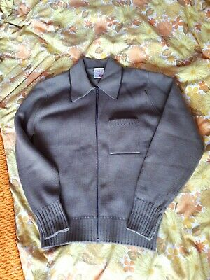6317bdd480a84b Vintage Knitted Cardigan MOD sz M 1960s towncraft Italian knit DNA GROOVE  Tipped