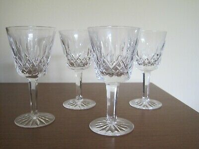 Waterford crystal claret wine glasses set of 4 Lismore pattern