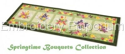 Springtime Bouquets  Collection - Machine Embroidery Designs On Cd Or Usb