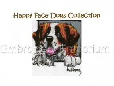 Happy Face Dogs Collection - Machine Embroidery Designs On Cd Or Usb