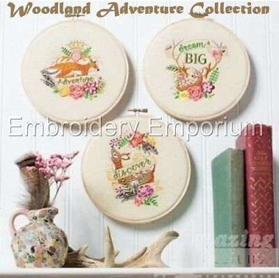 Woodland Adventure Collection - Machine Embroidery Designs On Cd Or Usb