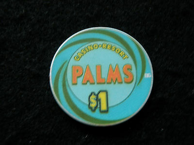$1 Palms Casino Las Vegas Nevada Vintage Poker Chip Gambling Money Gaming