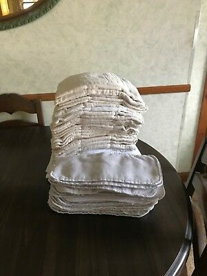 30  Cloth Prefold Diapers  & 22  Liners