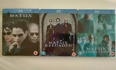 The Matrix Trilogy Steelbook Blu Ray UK Edition New Sealed Same Day Dispatch