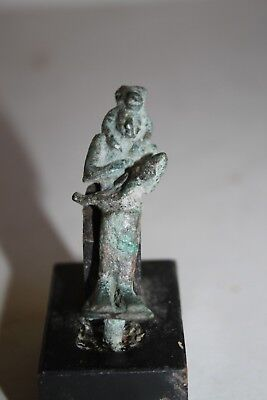 ANCIENT EGYPTIAN BRONZE AMULET 30th DYN 350 BC DYNASTIC