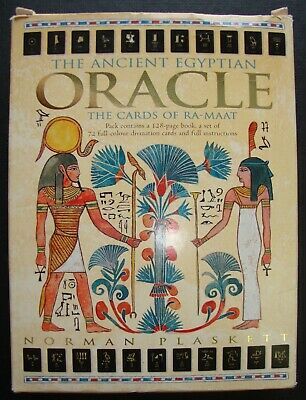 The Ancient Egyptian Oracle Cards Of Ra-Maat Oop Norman Plaskett Tarot Deck