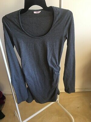 Soon Melbourne Ladies Grey Maternity Top Size Xs