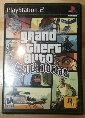 Playstation 2 PS2 Grand Theft Auto GTA San Andreas CASE,MAP, GUIDE ONLY *NO GAME