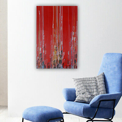 Hand-Painted Oil Painting Wall Modern Abstract Home Decor Art On Canvas Framed
