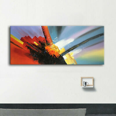 Modern Fashion Huge Abstract Hand-painted Oil Painting Canvas Wall Art Framed