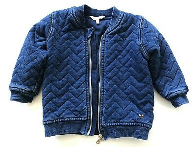Fox and Finch Baby lined denim zipper jacket size 12m in excellent condition