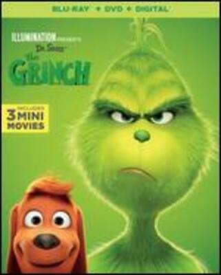 llumination Presents: The Grinch (Blu-Ray, 2019, 2-Disc Set) FACTORY SEALED