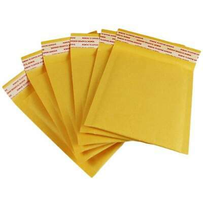 "50 - #000 Kraft Paper Bubble Mailers, 4"" x 8"" Padded Envelopes, Shipping Mailers"