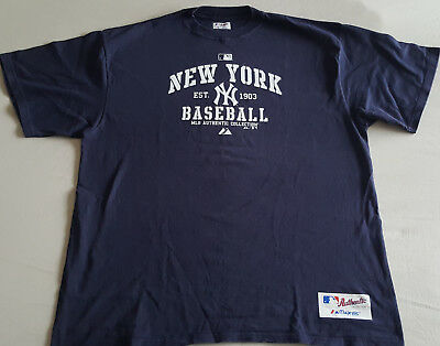Authentic Collection Majestic Athletic NEW YORK YANKEES Baseball Tee T-Shirt XL