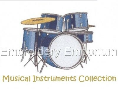 Musical Instruments Collection - Machine Embroidery Designs On Cd Or Usb