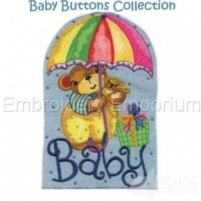 Baby Buttons Collection - Machine Embroidery Designs On Cd Or Usb