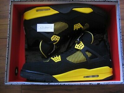 NIKE AIR JORDAN 4 IV RETRO Black White Tour Yellow THUNDER