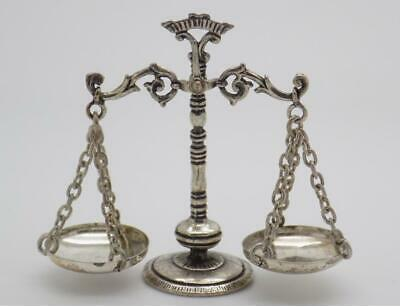 Vintage Solid Silver Italian Made Large Scale / Libra Miniature, Hallmarked