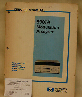 HP8901A Modulation Analyzer Serivce Manual