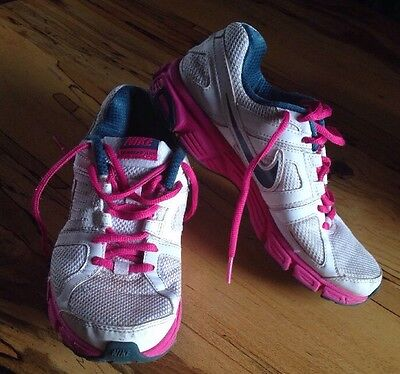Nike Downshifter 5 White Pink Trainers Uk Size 4 Vgc Ladies Girls