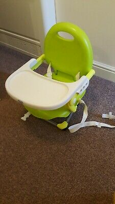 Chicco Booster Seat Travel High Chair Toddler Green Fold Up