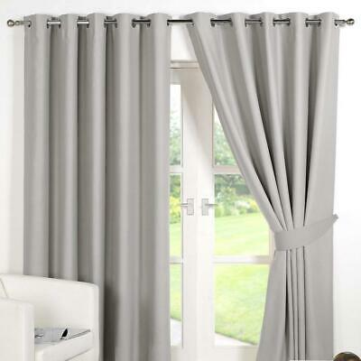 Dreamscene Eyelet Blackout Curtains Set of 2 Thermal Ring Top Window