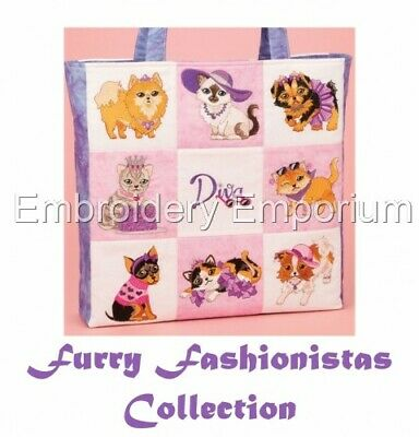 Furry Fashionistas Collection - Machine Embroidery Designs On Cd Or Usb