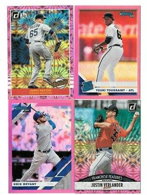 2019 Donruss Baseball Pink Holo & Pink Firework you pick/choose the card