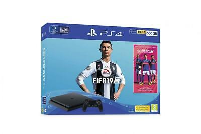Sony PlayStation 4 500GB Console (Black) with FIFA 19 Ultimate Team Icons