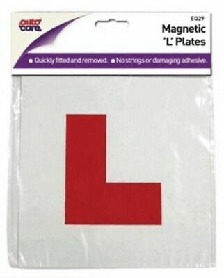 "Autocare Brand EQ29 Fully Magnetic Pair Of Red ""L"" Plates ****NEW****"