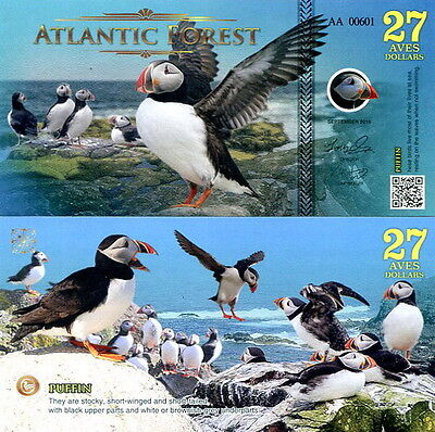 ATLANTIC FOREST - 27 aves dollars 2016 FDS UNC