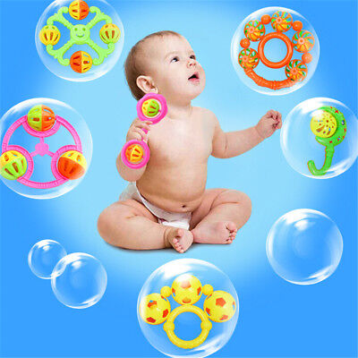 1PC Infant Baby Lovely Bell Rattles Toy Newborn Baby Hand Play Toys G P fh