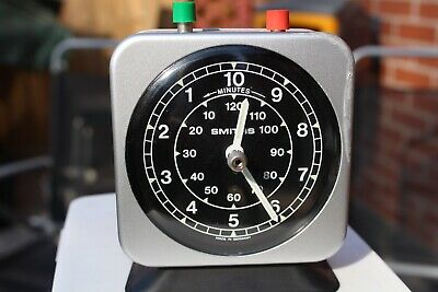 Vintage Smiths wind up timer/stop clock made in Germany with red and green stop