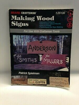 Sears/Craftsman Making Wood Signs With Craftsman Tools Collectible