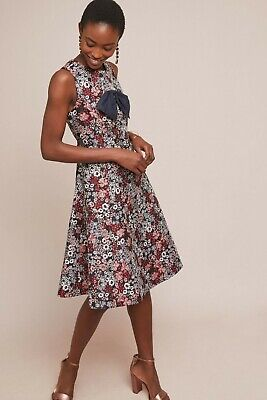 0e32bc117f2a4 ANTHROPOLOGIE BOW-TIED FLORAL Dress by Mignon Doo Size:XSP $248 NWT ...